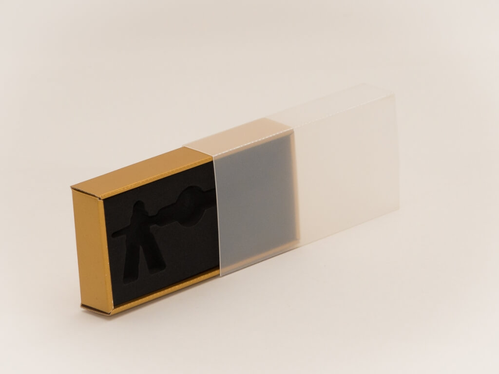 Geschenkverpackung mit Klarsichtüberzug