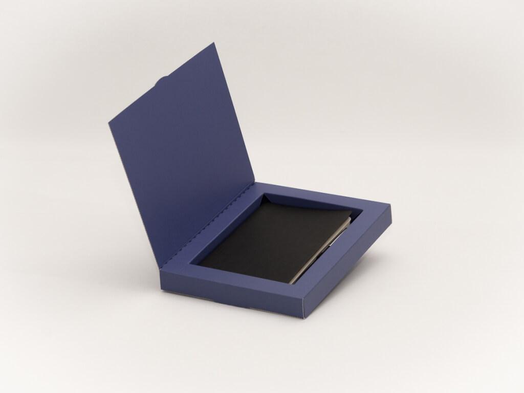 Geschenkverpackung Buch blau