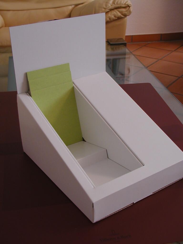 Beispiel Kartondisplay klein